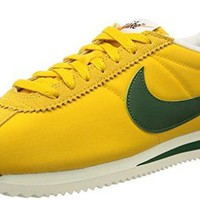NIKE Men's Classic Cortez Nylon Prem HK, Yellow Ochre/Gorge Green-Sail