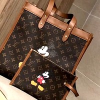 LV x DISNEY Women's Shopping Bag Handbag Shoulder Bag Two Piece Set