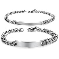 Fashion New 2015 Bracelets Accessories Streamline Smooth Couples Stainless Steel Bangle Bracelet  2 Pieces Pulseras Best Gifts = 1929995780