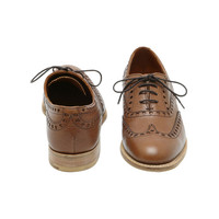 Lace Up Brogue in Oak Heritage Leather | Shoes | Mulberry