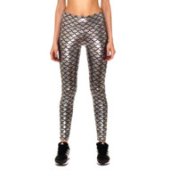 Mermaid Leggings - Silver