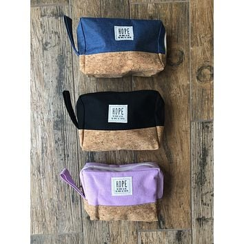 Hope Cosmetic Bag (Choose Your Color)