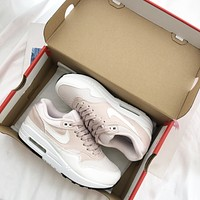 "Nike WMNS AIR MAX 1 ""Barely Rose"" Pink Sneaker"