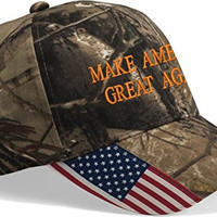 Make America Great Again Camouflage Buckle Back Hat-10745