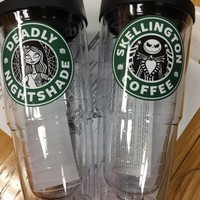 24 oz Halloween Tumbler/Disney Starbucks/Maleficent /Zombie/Starguts/Broomstick Brew/Nightshade/Skellington