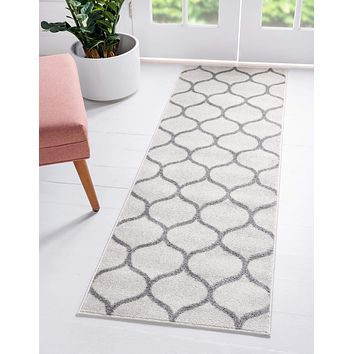 Geometric Rounded Trellis Frieze Rug (Runners)