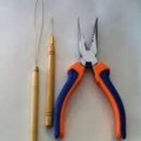 3 Pc Kit for Micro Ring Link Hair and Feather Extensions: Pliers, Micro Pulling Needle, and Loop Threader