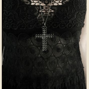 FRENCH LACE GOTHIC CAMI