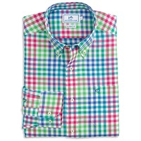 Laurel Falls Plaid Sport Shirt in Teal Depths by Southern Tide