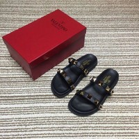 VALENTINO Women's Leather Sandals-KUYOU