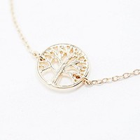 Tree Of Life Bracelet in Gold - Urban Outfitters