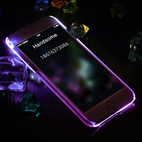 Purple Light Up Case For iPhone X 7 se 5s 8 6s Plus +Gift Box