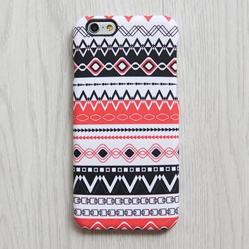 Ethnic Red Black iPhone XR case iPhone XS Max plus Case Ethnic  SE Case White Tribal Samsung Galaxy S8 S6  Case 070