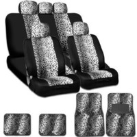 New and Unique YupbizAuto Brand Safari Snow Leopard Print Universal Size Car Truck SUV Seat Covers and Floor Mats Set High Quality Velour and Mesh Material Gift Set Smart Pocket Feature : Amazon.com : Automotive
