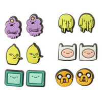 Adventure Time Character Earrings 6 Pair