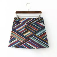 Patterned Print Mini Skirt