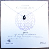 Dogeared - Healing Gem Onyx Pendant Necklace