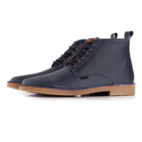 Ben Sherman Black Leather Lace up Boots - New In - TOPMAN USA