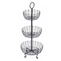 Furnistar 3 Tier Iron Table Counter Top Fruit and Vegetable Basket