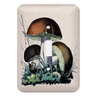 Brown Mushroom Light Switch Plate Cover by KittyinPinx on Etsy