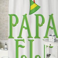 Papa Elf  special shower curtains that will make your bathroom adorable.