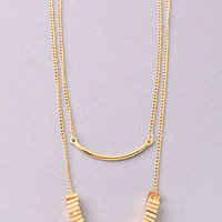 Double Layer Pot Of Gold Necklace