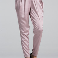 Satin Around Relaxed Jogger Pants