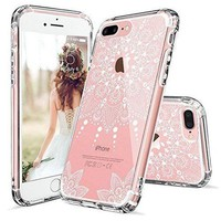 Iphone 8 Plus Case Iphone 8 Plus Clear Casemosnovo White Henna Mandala Floral Lace Clear Design Printed Hard With Tpu Bumper Protective Back Case Cover For Iphone 8 Plus (2017)