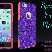 """iPhone 6 Case - OtterBox Commuter Series - Retail Packaging - 4.7"""" iPhone 6 Glitter Purple/Pink"""