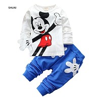 Baby Boy Mickey Hand Clothing Set