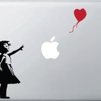Girl with Red Balloon - Vinyl Laptop or Macbook Decal