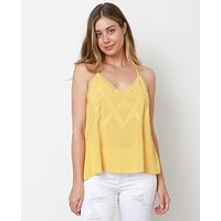 I Want It All Tank Top - Yellow Lace