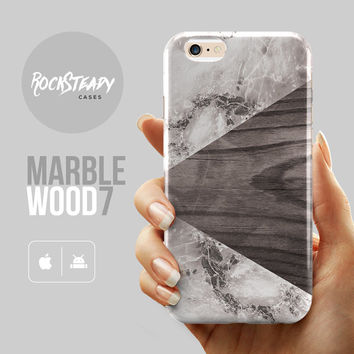 Grey wood marble iPhone 6 Plus case, iPhone 6s case, iPhone 6 case, iPhone 5s Case, iPhone 6s Plus case, iPhone 5C case, galaxy S5 case, S6