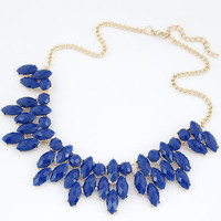 2016 Summer Style Collares Mujer Statement Necklaces & Pendants Imitated Gemstone Jewelry Collier Femme for Women Accessories