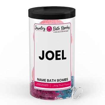 JOEL Name Jewelry Bath Bomb Tube