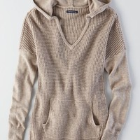 AEO Women's Hooded Tunic Sweater