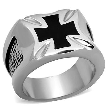 Men's Stainless Steel Rings TK2064 Stainless Steel Ring with Epoxy