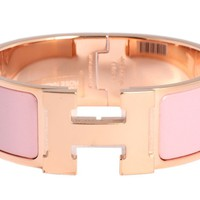 New HERMES Wide Pink Clic-Clac Bracelet ~ Easy to put on, hard to take off!
