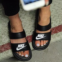 Nike classic slippers flip flops men and women sports sandals slippers women's outer wear Shoes