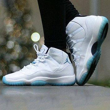 Nike Air Jordan 11 Low Infrared patent leather fashion men's and women's high-top shoes casual sports basketball shoes