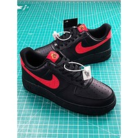 Nike Air Force 1 Low Black Red Sport Shoes