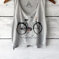 Life is a Ride Cropped Tank