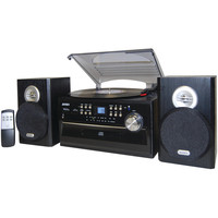 Jensen 3-speed Turntable With Cd Cassette & Am And Fm Stereo Radio
