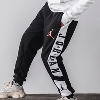 AIR JORDAN autumn and winter plus velvet warm men's shoes and feet closed casual trousers