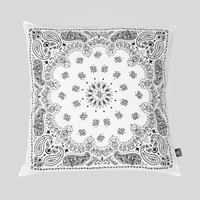 Bandana Pillow in White