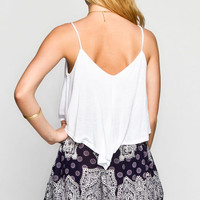 Mine Solid Womens Cami White  In Sizes