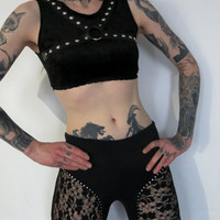 Hell Couture Witching Hour Studded Harness Crop Top