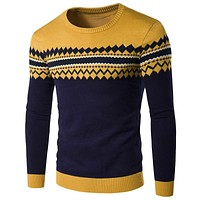 Men Sweater Pullovers Men Pattern Sweater