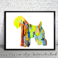 Wheaten Terrier Watercolor Print, Children's Wall, Art Home Decor, dog watercolor,watercolor painting, Wheaten Terrier art,animal watercolor
