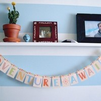 Adventure Awaits MINI Paper Garland Party Banner great for home or office